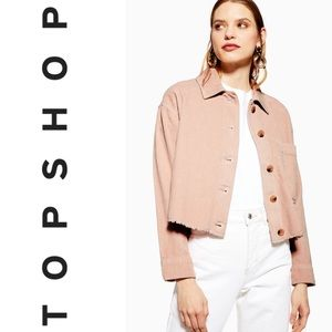 TOPSHOP Blush Corduroy Wide Ribbed Shacket